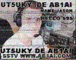 Slow-Scan amateur television signal from Jason, AB1A, in the US