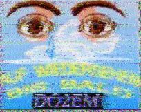 Slow-scan amateur television image from DO2EM in Germany
