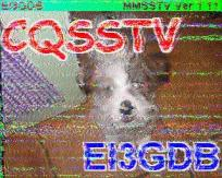 Slow-scan amateur television image from Ireland