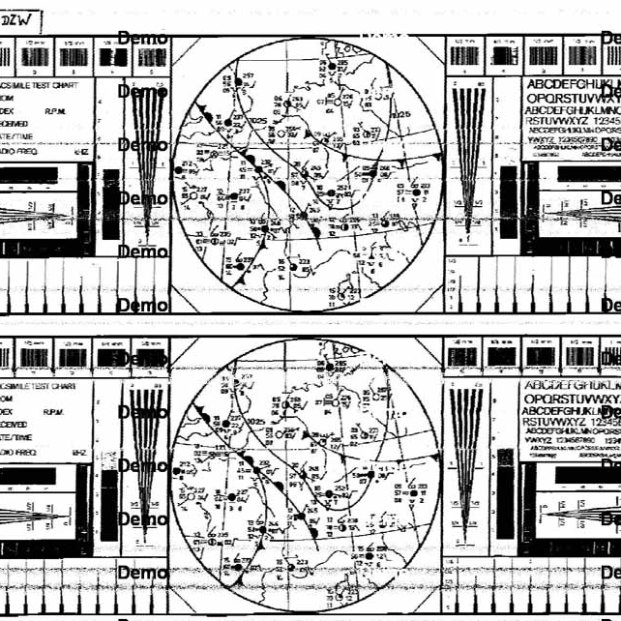 Test card from the German Weather Fax station in Pinneberg